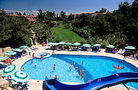 Turkey, Province Antalya, Side: holiday resort and harbour at Mediterranean Sea, Club Melas: Pool