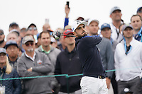 Abraham Ancer (MEX) on the 9th tee during the 3rd round of the US Open Championship, Pebel Beach Golf Links, Monterrey, Calafornia, USA. 15/06/2019.<br /> Picture Fran Caffrey / Golffile.ie<br /> <br /> All photo usage must carry mandatory copyright credit (© Golffile | Fran Caffrey)