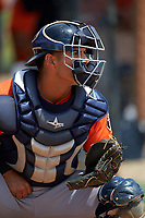 Houston Astros Christian Correa during practice before a minor league Spring Training game against the Detroit Tigers on March 30, 2016 at Tigertown in Lakeland, Florida.  (Mike Janes/Four Seam Images)
