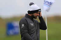 Andy Sullivan (ENG) on the 13th green during Round 4 of the Amundi Open de France 2019 at Le Golf National, Versailles, France 20/10/2019.<br /> Picture Thos Caffrey / Golffile.ie<br /> <br /> All photo usage must carry mandatory copyright credit (© Golffile | Thos Caffrey)