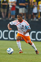 24 JULY 2010:  Corey Ashe of the Houston Dynamo (26) during MLS soccer game between Houston Dynamo vs Columbus Crew at Crew Stadium in Columbus, Ohio on July 3, 2010. Columbus defeated the Dynamo 3-0.