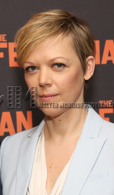 """Emily Bergl attends the """"The Ferryman"""" cast change photo call on January 17, 2019 at the Sardi's in New York City."""