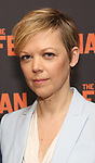 "Emily Bergl attends the ""The Ferryman"" cast change photo call on January 17, 2019 at the Sardi's in New York City."