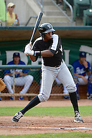 Correlle Prime (32) of the Grand Junction Rockies at bat against the Ogden Raptors in Pioneer League play at Lindquist Field on September 8, 2013 in Ogden Utah.  (Stephen Smith/Four Seam Images)