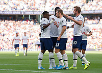 Serge Aurier of Tottenham Hotspur celebrates scoring with his team mates during the Premier League match between Tottenham Hotspur and Crystal Palace at Wembley Stadium, London, England on 14 September 2019. Photo by Vince  Mignott / PRiME Media Images.