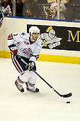 January 9th, 2009:  Jason Garrison (3) of the Rochester Amerks controls the puck during the third period vs. the Syracuse Crunch at Blue Cross Arena in Rochester, NY.  Rochester defeated Syracuse 3-1 for their third straight win.  Photo Copyright Mike Janes Photography 2009
