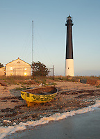 Beached Dory at Sundown - Sorve Lighthouse Estonia