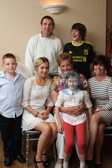 Anne Collins with the Doherty Family at her 70th birthday party in Harrys...Picture Jenny Matthews/Newsfile.ie