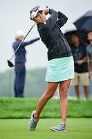 Alison Lee (USA) watches her tee shot on 10 during Friday's second round of the 72nd U.S. Women's Open Championship, at Trump National Golf Club, Bedminster, New Jersey. 7/14/2017.<br /> Picture: Golffile | Ken Murray<br /> <br /> <br /> All photo usage must carry mandatory copyright credit (&copy; Golffile | Ken Murray)