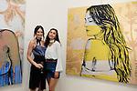SANTA MONICA - JUN 25: Mallory Jansen, Sydney Schafer at the David Bromley LA Women Art Exhibition opening reception at the Andrew Weiss Gallery on June 25, 2016 in Santa Monica, California