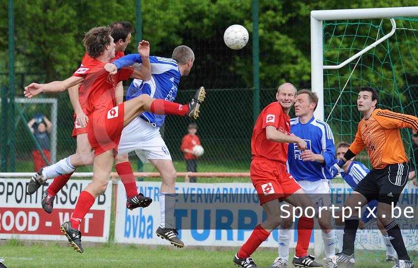 Zwevegem Sport - K SV De Ruiter..David Baekelandt scoort de 1-0..foto David Catry / VDB