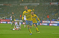 Leeds United's Patrick Bamford celebrates scoring the opening goal <br /> <br /> Photographer Stephen White/CameraSport<br /> <br /> The EFL Sky Bet Championship - Bolton Wanderers v Leeds United - Saturday 15th December 2018 - University of Bolton Stadium - Bolton<br /> <br /> World Copyright &copy; 2018 CameraSport. All rights reserved. 43 Linden Ave. Countesthorpe. Leicester. England. LE8 5PG - Tel: +44 (0) 116 277 4147 - admin@camerasport.com - www.camerasport.com