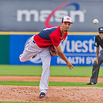 7 March 2015: Washington Nationals pitcher A.J. Cole in Spring Training action against the St. Louis Cardinals at Space Coast Stadium in Viera, Florida. The Nationals rallied to defeat the Cardinals 6-5 in Grapefruit League play. Mandatory Credit: Ed Wolfstein Photo *** RAW (NEF) Image File Available ***