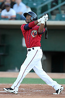Lancaster JetHawks outfielder Austin Wates #15 bats against the Lake Elsinore Storm at Clear Channel Stadium on September 5, 2011 in Lancaster,California. Lake Elsinore defeated Lancaster 11-2.(Larry Goren/Four Seam Images)