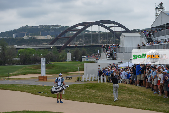 Bubba Watson (USA) watches his approach shot on 12 during day 5 of the World Golf Championships, Dell Match Play, Austin Country Club, Austin, Texas. 3/25/2018.<br /> Picture: Golffile | Ken Murray<br /> <br /> <br /> All photo usage must carry mandatory copyright credit (© Golffile | Ken Murray)