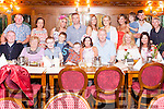 """Mary Woulfe seated centre with her husband Philip from Cratloe Abbeyfeale celebrating a """"Special Birthday"""" with family & friends last Sunday night in Leens Hotel."""