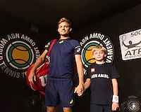 ABN AMRO World Tennis Tournament, Rotterdam, The Netherlands, 18 Februari, 2017, David Goffin (BEL)<br /> Photo: Henk Koster