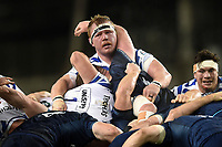 Jacques van Rooyen of Bath Rugby in action at a scrum. Heineken Champions Cup match, between Leinster Rugby and Bath Rugby on December 15, 2018 at the Aviva Stadium in Dublin, Republic of Ireland. Photo by: Patrick Khachfe / Onside Images