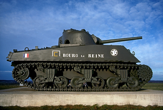 Bourg la Reine, World War Two French tank, town of Phalsbourg, Lorraine, France, Europe.