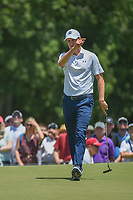 Jordan Spieth (USA) watches his long eagle attempt on 1 during round 1 of the AT&T Byron Nelson, Trinity Forest Golf Club, at Dallas, Texas, USA. 5/17/2018.<br /> Picture: Golffile | Ken Murray<br /> <br /> <br /> All photo usage must carry mandatory copyright credit (© Golffile | Ken Murray)