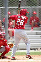 St. Louis Cardinals Anthony Bryant #26 during an extended Spring Training intrasquad game at the Roger Deam Complex on May 1, 2012 in Jupiter, Florida.  (Mike Janes/Four Seam Images)