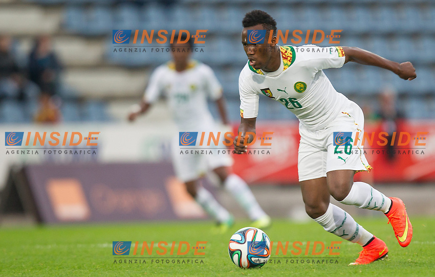 26.05.2014, Kufstein Arena, Kufstein, AUT, FIFA WM, Testspiel, Mazedonien vs Kamerun, im Bild Fabrice Olinga (Kamerun) // Fabrice Olinga (Kamerun) during friendly match between Macedonia and Cameroon for Preparation of the FIFA Worldcup Brasil 2014 at the Kufstein Arena in Kufstein, Austria on 2014/05/26. EXPA Pictures &copy; 2014, PhotoCredit: EXPA/ JFK <br /> Calcio Cameun Macedonia <br /> Foto Expa / Insidefoto  <br /> Calcio Preparazione Mondiali