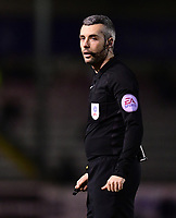Referee Sebastian Stockbridge<br /> <br /> Photographer Chris Vaughan/CameraSport<br /> <br /> The EFL Sky Bet League Two - Lincoln City v Cheltenham Town - Tuesday 13th February 2018 - Sincil Bank - Lincoln<br /> <br /> World Copyright &copy; 2018 CameraSport. All rights reserved. 43 Linden Ave. Countesthorpe. Leicester. England. LE8 5PG - Tel: +44 (0) 116 277 4147 - admin@camerasport.com - www.camerasport.com