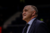 9th February 2018, Wiznik Centre, Madrid, Spain; Euroleague Basketball, Real Madrid versus Olympiacos Piraeus; Pablo Laso Coach of Real Madrid Baloncesto