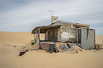 Shack in Tin City, Stockton Sand Dunes, Anna Bay, NSW, Australia