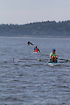 Open water rowing and paddling, Rat Island Race, Port Townsend, Puget Sound, Washington State, USA, June 29, 2013, Sound Rowers,