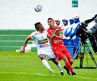 TUNJA -COLOMBIA, 30-07-2017. Acción de juego entre los equipos  Patriotas FC y el Deportivo Pasto  durante encuentro  por la fecha 5 de la Liga Aguila II 2017 disputado en el estadio de  La Independencia./ Action game between  of  Patriotas FC and   Deprtivo Pasto  during match for the date 5 of the Aguila League II 2017 played at La Independencia  stadium . Photo:VizzorImage / Javier Alberto Morales  / Cont