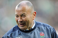 Eddie Jones, England Head Coach, during the Old Mutual Wealth Series match between England and Argentina at Twickenham Stadium on Saturday 26th November 2016 (Photo by Rob Munro)