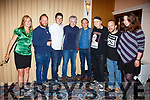 pictured at the Father Ted Comedy night in the Ring of Kerry Hotel on Saturday night were l-r; Holly Woollett, Cornelius Patrick O'Sullivan(Comedian), Bernard Casey(Comedian), Patrick McDonnell(Eoin McLove), Joe Rooney(Fr Damo), Seamus Collins, James & Rachel McCarthy.