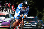 Polka Dot Jersey Angel Madrazo Ruiz (ESP) Burgos-BH in action during Stage 10 of La Vuelta 2019 an individual time trial running 36.2km from Jurancon to Pau, France. 3rd September 2019.<br /> Picture: Colin Flockton | Cyclefile<br /> <br /> All photos usage must carry mandatory copyright credit (© Cyclefile | Colin Flockton)