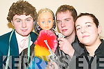 Scor Winners: John Michael Fitzgerald, Mary the mannequin, Eoin Egan and Michelle.Leen who were members of the winning Novelty Act team at the North Kerry Senior Hurling.Finals of Scor in the Ceolann Lixnaw on Friday night. .