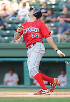 July 29, 2009: Infielder James Murphy (44) of the Lakewood BlueClaws, Class A affiliate of the Philadelphia Phillies, in a game at Fluor Field at the West End in Greenville, S.C. Photo by: Tom Priddy/Four Seam Images