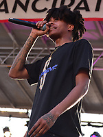 Washington, DC - April 14, 2018: D.C. rapper Lightshow performs at Freedom Plaza in Washington, D.C. during the Emancipation Day celebration April 14, 2018.  (Photo by Don Baxter/Media Images International)