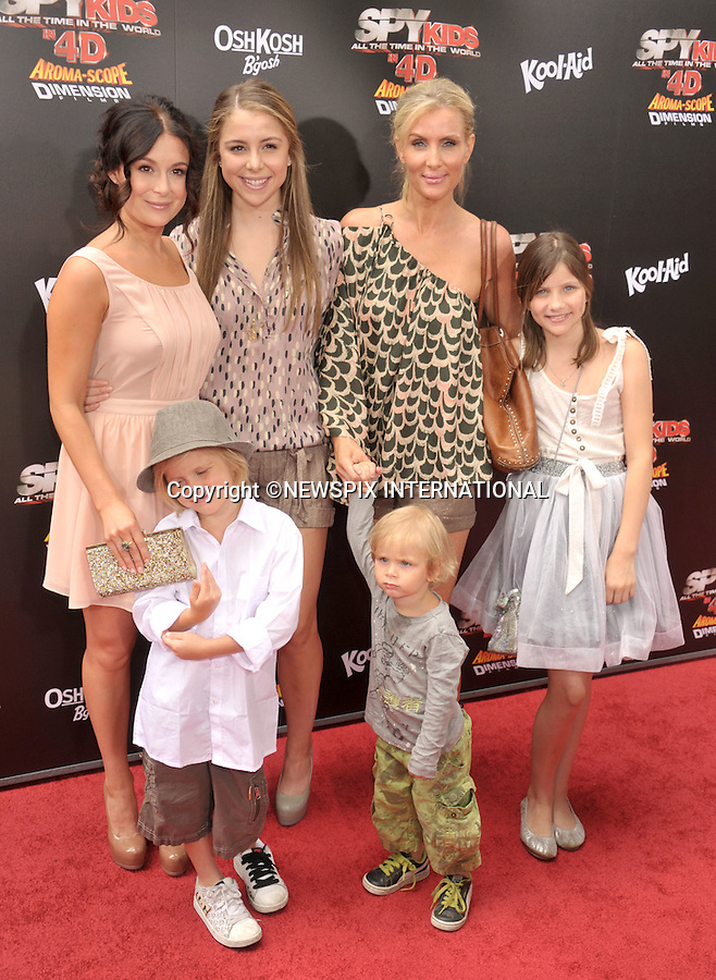 """ALEXA VEGA, SISTER MAKENZIE VEGA AND FAMILY.attends the World Premiere of """"Spy Kids: All The Time In The World"""" at the Regal Cinemas, L.A. Live, Los Angeles, California_31/07/2011.Mandatory Photo Credit: ©Crosby/Newspix International. .**ALL FEES PAYABLE TO: """"NEWSPIX INTERNATIONAL""""**..PHOTO CREDIT MANDATORY!!: NEWSPIX INTERNATIONAL(Failure to credit will incur a surcharge of 100% of reproduction fees).IMMEDIATE CONFIRMATION OF USAGE REQUIRED:.Newspix International, 31 Chinnery Hill, Bishop's Stortford, ENGLAND CM23 3PS.Tel:+441279 324672  ; Fax: +441279656877.Mobile:  0777568 1153.e-mail: info@newspixinternational.co.uk"""