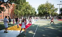 ADIDAS PHARRELL WILLIAMS CLOTHING LAUNCH - FREDERICK JOHNSON COURT-HARLEM<br /> <br /> TENNIS - THE US OPEN - FLUSHING MEADOWS - NEW YORK CITY - NEW YORK - USA - ATP - WTA - ITF - GRAND SLAM - OPEN - NEW YORK - USA - 2017  <br /> <br /> <br /> <br /> &copy; TENNIS PHOTO NETWORK
