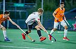 AMSTELVEEN - Jan-Willem Buissant (Adam)   tijdens de play-offs hoofdklasse  heren , Amsterdam-Bloemendaal (0-2).    COPYRIGHT KOEN SUYK