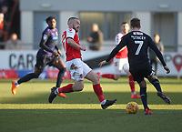 Fleetwood Town's Paddy Madden  in action with Luton Town's Jack Stacey <br /> <br /> Photographer Mick Walker/CameraSport<br /> <br /> The EFL Sky Bet League One - Fleetwood Town v Luton Town - Saturday 16th February 2019 - Highbury Stadium - Fleetwood<br /> <br /> World Copyright © 2019 CameraSport. All rights reserved. 43 Linden Ave. Countesthorpe. Leicester. England. LE8 5PG - Tel: +44 (0) 116 277 4147 - admin@camerasport.com - www.camerasport.com
