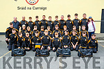 Austin Stacks team and mentors heading to Feile na nOg pictured at the clubhouse on Friday.