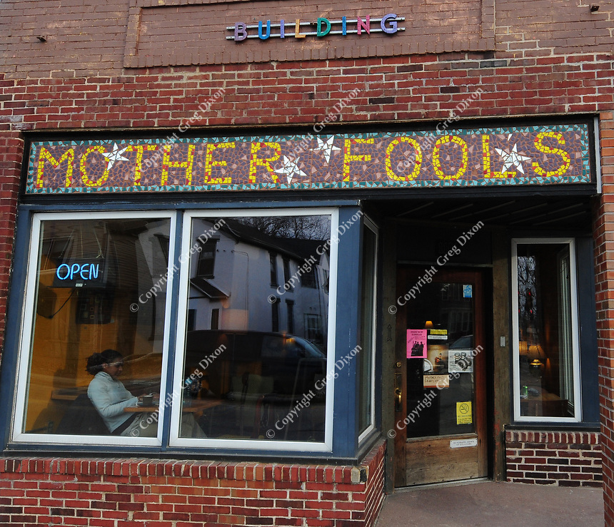Mother Fool's Coffeehouse is on the corner of Williamson and Ingersoll streets on Madison's near east side
