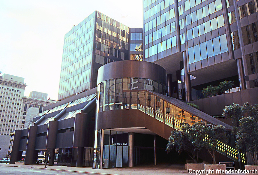 Houston: Houston Center, Fannin St. side. (NW side)  Photo '80.