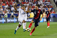 Harrison, NJ - Friday July 07, 2017: Bryan Acosta, Marco Ureña during a 2017 CONCACAF Gold Cup Group A match between the men's national teams of Honduras (HON) vs Costa Rica (CRC) at Red Bull Arena.