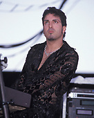 WANTAGH NY - AUGUST 09: Derek Sherinian of Dream Theater performs at The Jones Beach Amphitheater on August 9, 1998 in Wantagh, New York. Photo by Larry Marano © 1998