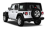 Car pictures of rear three quarter view of a 2018 Jeep Wrangler Unlimited Sport 5 Door SUV angular rear