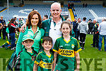 Delores, Jamie, Gary, Sean and Lily Parker, Fenit after Kerry won the Junior all Ireland in Portlaoise on Saturday.