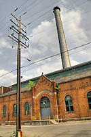 "Old abandoned ""municipal light plant"", Columbus, Ohio, USA"