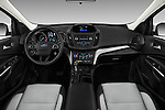 Stock photo of straight dashboard view of 2017 Ford Escape SE 5 Door SUV Dashboard